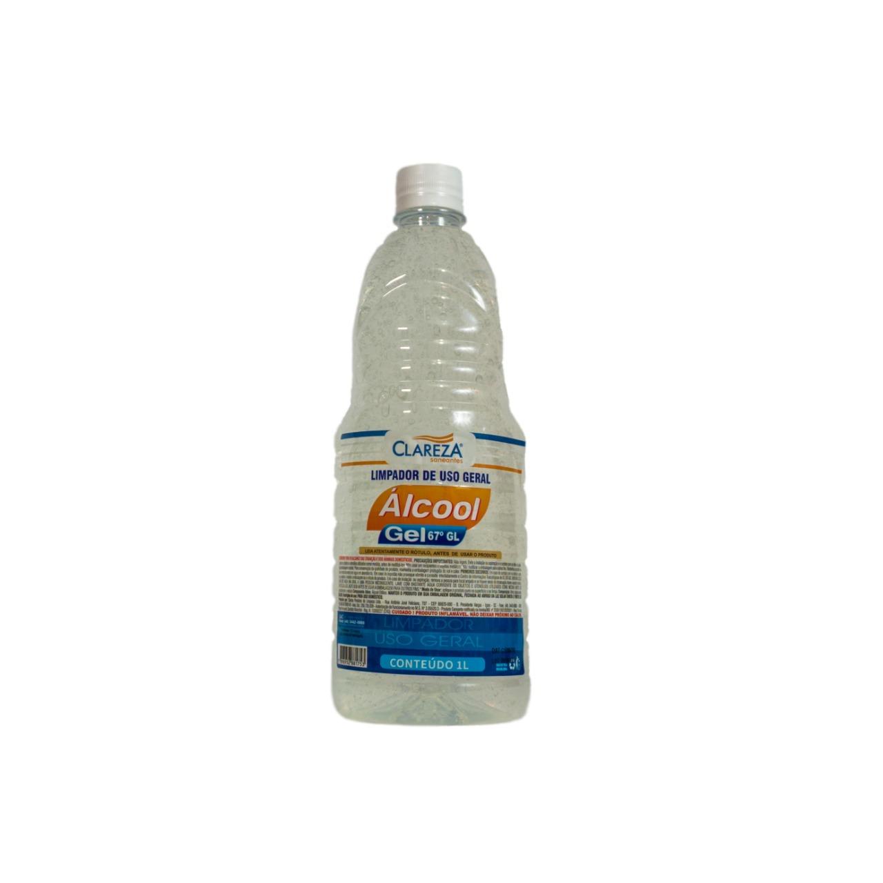Álcool Gel 1LX12UN (CAIXA) - Clareza Saneantes