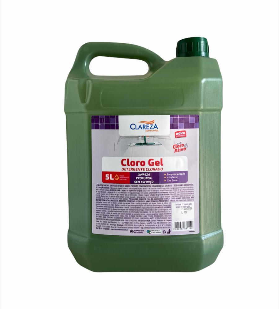 Detergente Clorado | Cloro Gel - Clareza Saneantes
