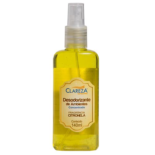 Desodorizante de Ambientes Citronela 140mLX24UN (CAIXA) - Clareza Saneantes